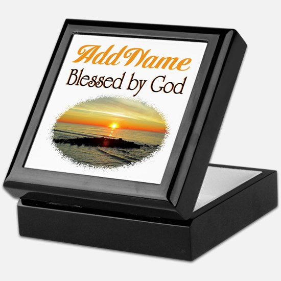 BLESSED BY GOD Keepsake Box