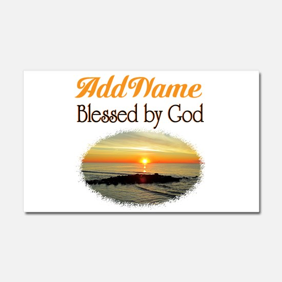 BLESSED BY GOD Car Magnet 20 x 12
