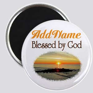BLESSED BY GOD Magnet