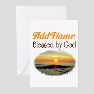 BLESSED BY GOD Greeting Cards (Pk of 10)