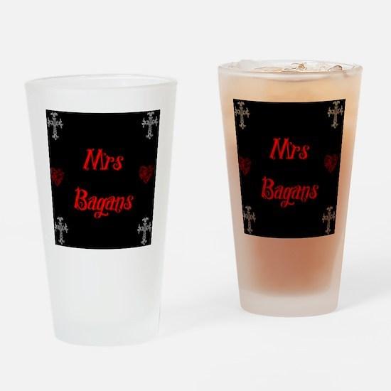 Mrs Bagans Drinking Glass