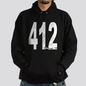 Distressed Pittsburgh 412 Hoodie
