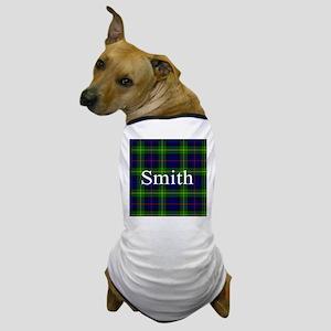 Smith Surname Tartan Dog T-Shirt