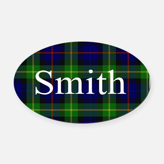 Smith Surname Tartan Oval Car Magnet