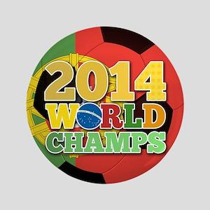 "2014 World Champs Ball - Portugal 3.5"" Button"