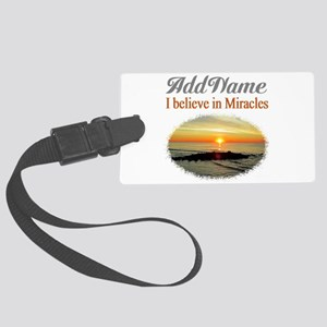BELIEVE MIRACLES Large Luggage Tag