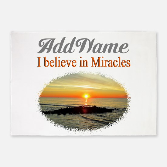 BELIEVE MIRACLES 5'x7'Area Rug