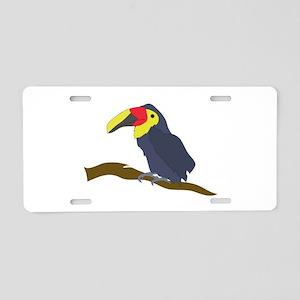 Toucan On A Limb Aluminum License Plate