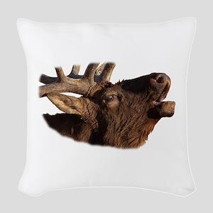 Portrait of a Bugler Woven Throw Pillow