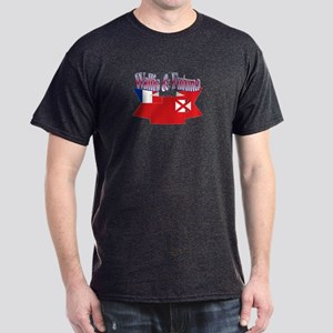 Wallis flag ribbon Dark T-Shirt