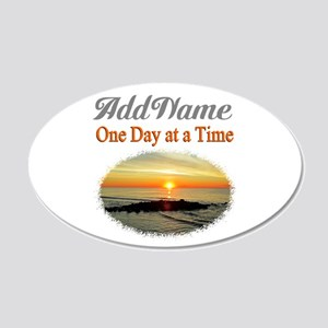 ONE DAY AT A TIME 20x12 Oval Wall Decal