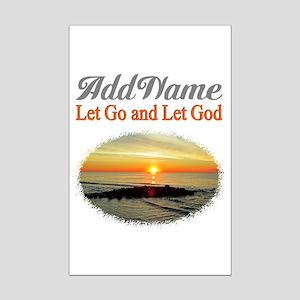 LET GO LET GOD Mini Poster Print