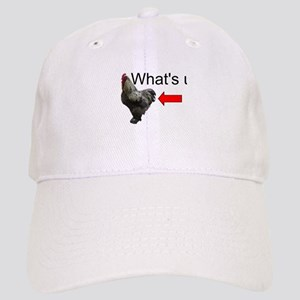 Whats Up Chicken Butt Funny Baseball Cap