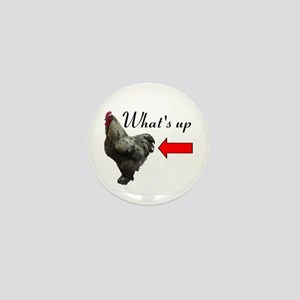 Whats Up Chicken Butt Funny Mini Button