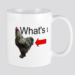 Whats Up Chicken Butt Funny Mugs