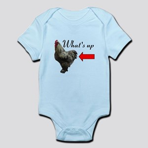 Whats Up Chicken Butt Funny Body Suit