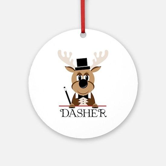 Dasher Ornament (Round)