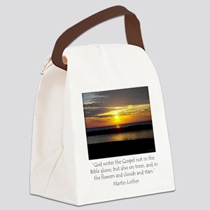 Martin Luther Nature quote Canvas Lunch Bag