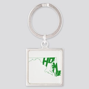 Maryland Home Square Keychain