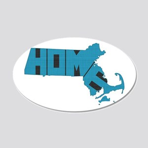 Massachusetts Home 20x12 Oval Wall Decal