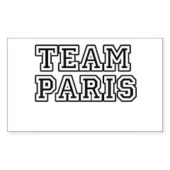 Team Paris Rectangle Decal