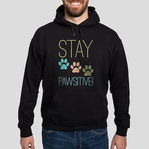 Stay Pawsitive Hoodie (dark)