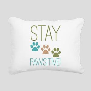 Stay Pawsitive Rectangular Canvas Pillow