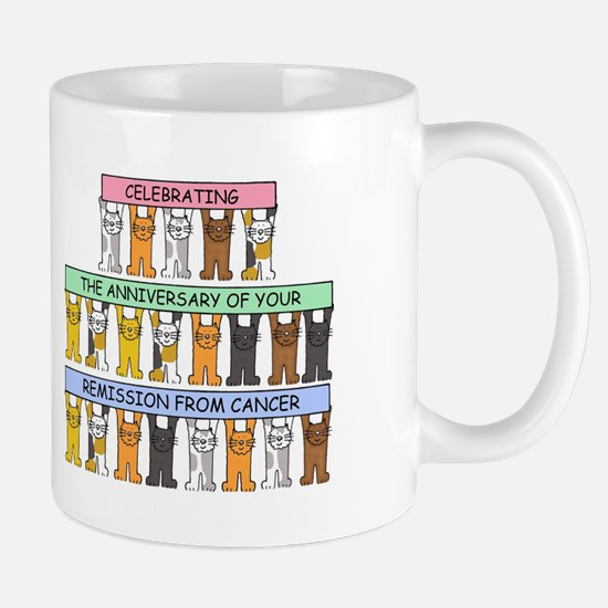 Anniversary of remission from Cancer Celebrat Mugs