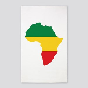 Green, Gold and Red Africa Flag 3'x5' Area Rug
