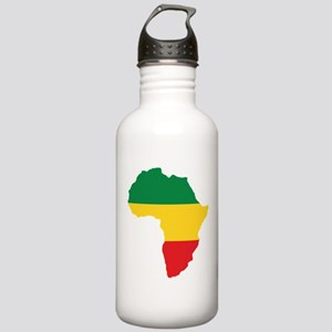 Green, Gold and Red Africa Flag Sports Water Bottl