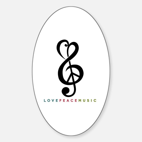 Unique Music Sticker (Oval)