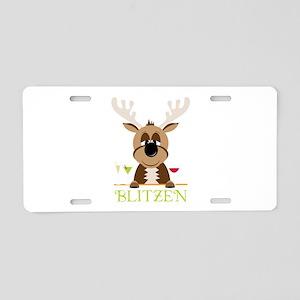 Blitzen Aluminum License Plate