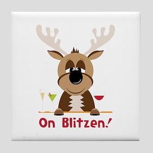 On Blitzen Tile Coaster