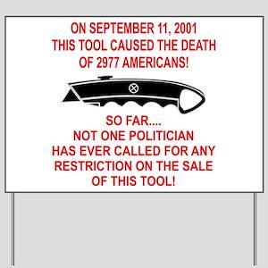 2977 Americans Dead Yard Sign