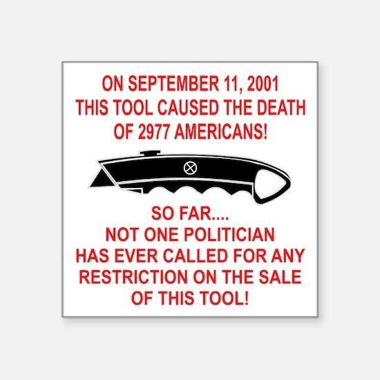 """2977 Americans Dead Square Sticker 3"""" x 3"""""""