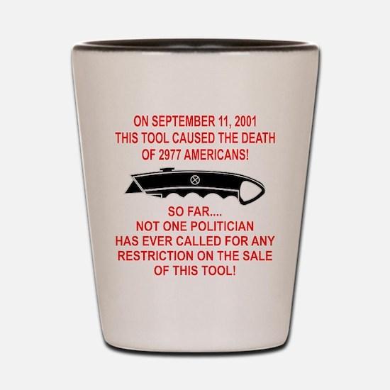 2977 Americans Dead Shot Glass