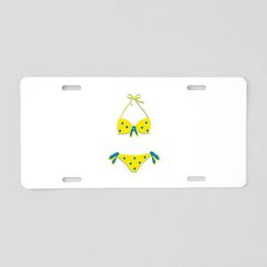 Polka Dot Bikini Aluminum License Plate