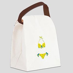 Polka Dot Bikini Canvas Lunch Bag