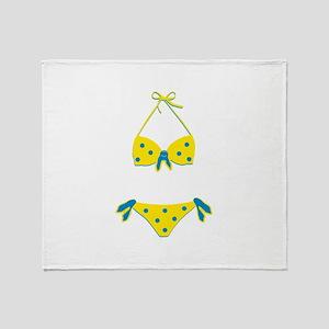 Polka Dot Bikini Throw Blanket