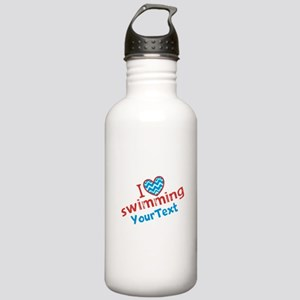 Swimming Optional Text Stainless Water Bottle 1.0L
