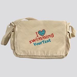 Custom Swim Optional Text Messenger Bag