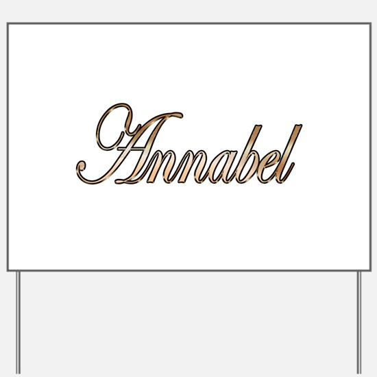 Gold Annabel Yard Sign