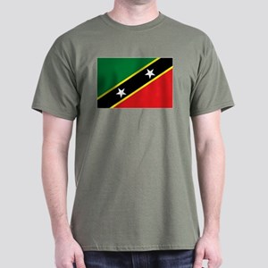 St Kitts flag Dark T-Shirt