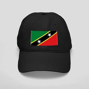 St Kitts flag Black Cap