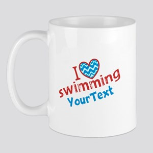 Customize I Love Swimming (design left) Mug