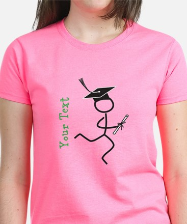 Grad Runner © Optional Text Women's Dark T-Shirt