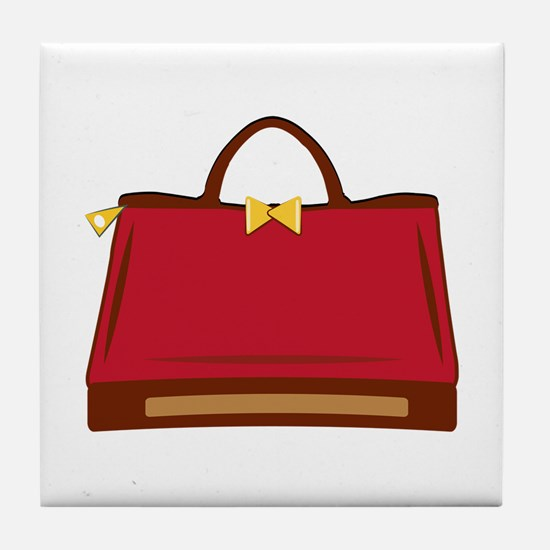 Red Purse Tile Coaster