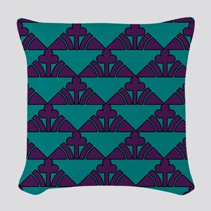 Purple And Teal Woven Throw Pillow
