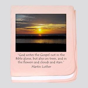 Martin Luther Nature quote baby blanket