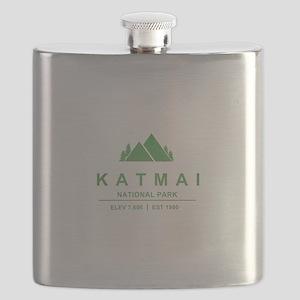 Katmai National Park, Alaska Flask